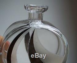 Art Deco 1930s Czech KARL PALDA Glass Decanter & Shot Glasses Cut Crystal Glass