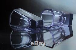 Art Deco Bohemian Alexandrite Neodymium Cut Glass Decanter Set Engraving DEER