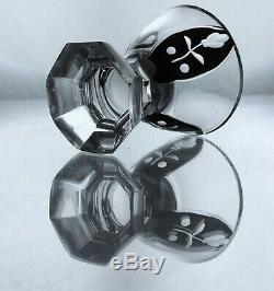 Art Deco Bohemian Cut Glass Decanter/Carafe Set by Karl Palda 1930's