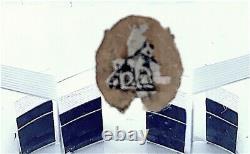 Art Deco Cut Crystal Enameled Decanter Set Prague Original Label
