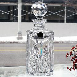 Atlantis Crystal Whisky Decanter 10.5 tall NEW IN BOX made in Portugal HAND CUT