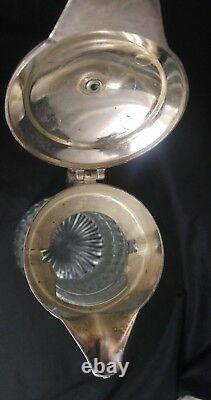 B1 Two Vintage Cut Glass & Wine Water Chiller One Made In Italy