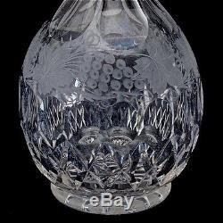 BEAUTIFUL MATCHING PAIR 19thC VICTORIAN CUT GLASS WHISKEY SCOTCH VODKA DECANTERS