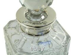 BROADWAY & Co Silver & Crystal Cross Cut DECANTER 10