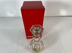 Baccarat France Crystal Harcourt Cut Empire Gold Cordial Liqueur Decanter + Box