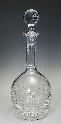 Baccarat Nancy Tall Cut Crystal Signed Decanter 11 3/4 Tall