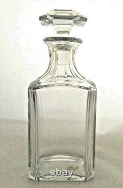 Baccarat Perfection Crystal Whiskey Decanter diamond cut top Initials EM France