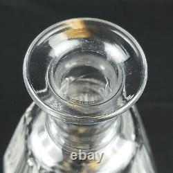 Baccarat Tallyrand Crystal Cut Decanter 9 1/4 Tall WithStopper Numbered Signed