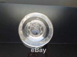 Beautiful Antique Hand Blown Cut Glass Decanter