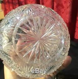 Beautiful Vintage Antique Victorian 11 Brilliant Cut Glass Decanter