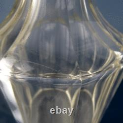 Biedermeier Karaffe Kristall Glas 27cm Cut Glass Victorian Decanter England 1840