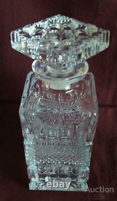 Bohemian Vintage Cut Glass Crystal Decanter Czechoslovakia Excellent Condition