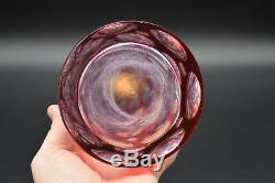 Boston Sandwich Cased Cranberry Cut To Clear Thousand Eye 16 1/2 Decanter