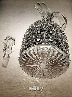 Brilliant Cut Crystal ABP Star Hobnail Russian Dorflinger A+ Whiskey Decanter