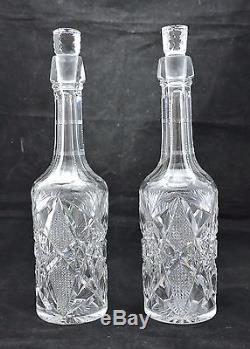 Brilliant Era Cut Glass Decanters-Matched Pair