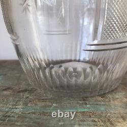 C1810 Fine Antique Irish Cut Glass Decanter. Georgian Regency