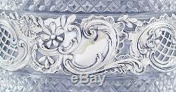 C1900 German Silver Overlay Cut Glass Bottle / Decanter by Storck & Sinsheimer