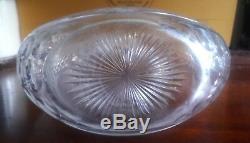 C1928 Cut Glass & Sterling Silver'WHEN TYRED SCOTCH' Decanter by Hulkin & Heath
