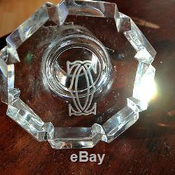 Cartier Atlantis Helsinki Square Block Box Cut Crystal Glass Decanter RARE 1973