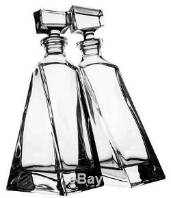 Clear Bohemian Crystal Glass Lovers Decanter Gift Set, Transparent