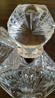 Decanter Crystal Bottle & Stopper with Topazio Silverplated Neck