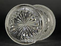 EDINBURGH CRYSTAL THISTLE DESIGN & ENGRAVED LIQUEUR/CORDIAL DECANTER 18cm
