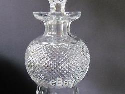EDINBURGH CRYSTAL THISTLE VINTAGE 11¾ WINE DECANTER 8 CUT LEAVES (Ref3663)