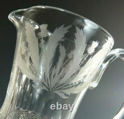 EDINBURGH Crystal THISTLE Cut Water / Whisky Jug 6 (1st)