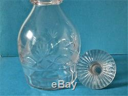 Early 19th C. Blown And Cut Glass Decanter Pittsburgh
