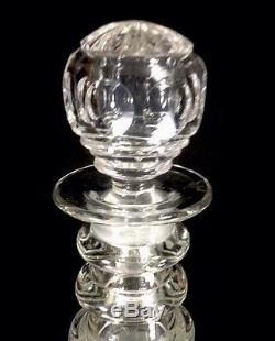 Early Pair Of Georgian Cut Glass Decanters Anglo-Irish 1 Original Stopper c 1825