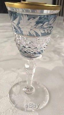 Ebeling & Reuss Marchioness Clear Crystal Colorful Wine Glasses Decanter Cordial