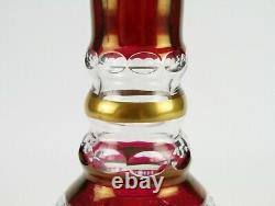 Ebeling & Reuss Marchioness Ruby Red Cut to Clear Decanter, Vintage Wine Liquor