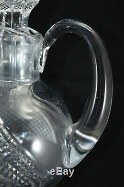 Edinburgh Crystal Thistle Claret Jug Decanter