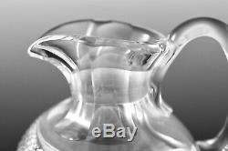 Edinburgh Crystal Thistle Cut Claret Jug Decanter 1st Excellent
