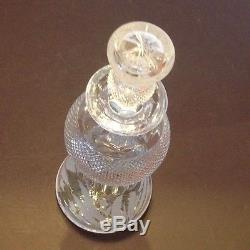 Edinburgh Cut Crystal Glass THISTLE Round 26oz WINE, SCOTCH Decanter Scotland