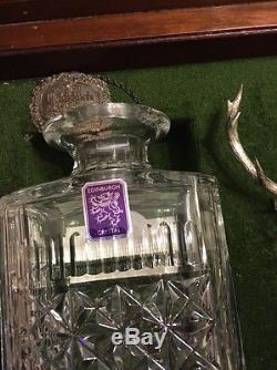 Edinburgh Signed Crystal Glenfiddich 30 Year Whisky Decanter Wood Box RARE