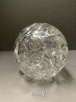 English Crystal decanter Thomas Webb rock crystal cut. Antique England