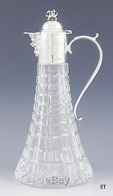 English Sterling Silver & Cut Glass Commemorative Royal Wedding Decanter