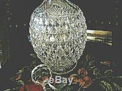 Estate 12 5/8 DORFLINGER Am Brilliant CUT Hob Diamond DECANTER Sissor Cut Neck