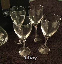 Excellent Stuart Crystal Set Of 4 Iona Wine Glasses & Decanter