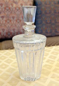 FS-0039 Unique Vintage Heavy Crystal Cut Glass Decanter