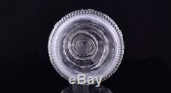 Fabulous 1825 Antique English 3-Ring Hand Applied Cut Glass Decanter with Stars