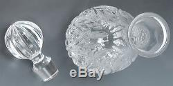 Fabulous Cut Glass/Crystal Waterford Decanter Leaf Designs