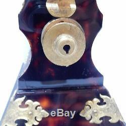Faux Tortoiseshell Tantalus Glass Crystal Decanter Ormolu Drinks Set