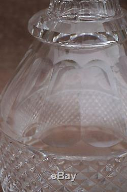 French St Louis Wine Decanter Trianon Cut Glass Crystal Saint Louis Paris