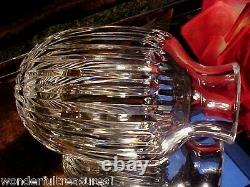 GORGEOUS REALLY CLEAR Crystal CUT GLASS TUMBLE UP Carafe & Tumbler RARE