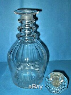 Georgian Cut Glass 3-ring Decanter, Circa 1820