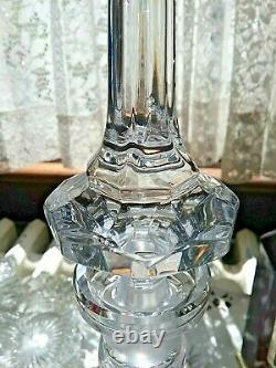 Georgian Irish Brilliant Cut Lead Crystal 3 Ring Ship Decanter 14.25 $150.00