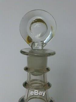 Georgian plain 3 neck ring decanter c1800