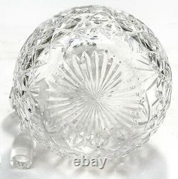 German 800 Silver and Clear Cut Crystal Glass Decanter, circa 1920